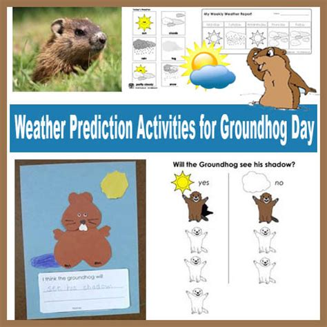groundhog day prediction weather prediction activities for groundhog day kidssoup
