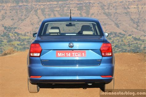 volkswagen ameo 2017 vw ameo tdi dsg at rear review indian autos blog