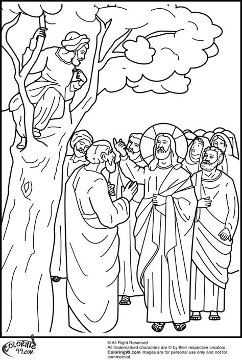coloring pages story zacchaeus free coloring pages of story of zacchaeus
