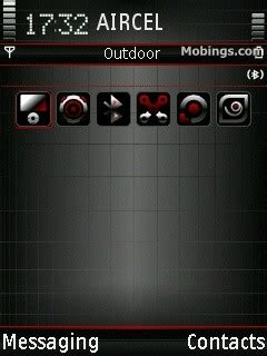 e52 themes black black techno s60v3 theme nokia s60 v5