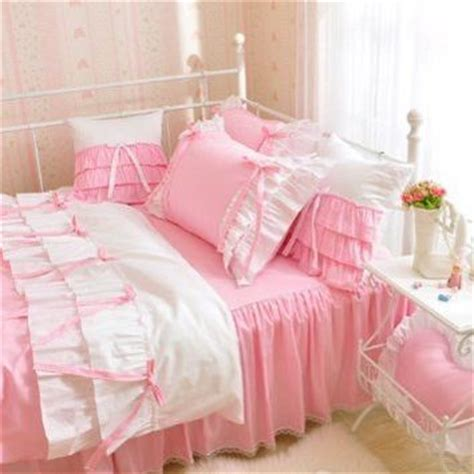 white pink korean princess bedding set from amazon new room