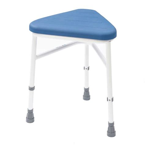pu padded corner shower stool nrs healthcare