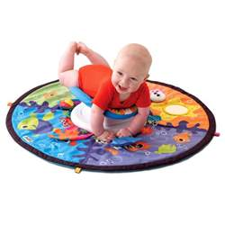 lamaze tummy time spin explore the sea play mat