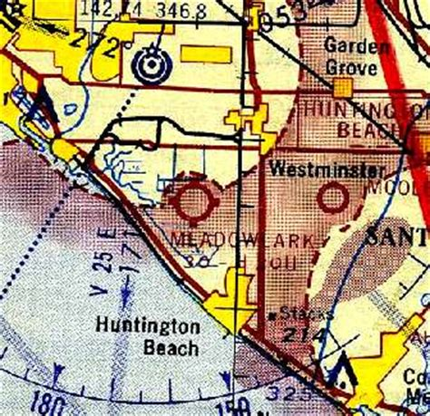 San Diego Sectional Chart by Abandoned Known Airfields Northwestern Orange County