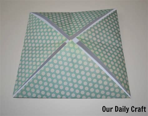 Paper Folding Challenge - easy origami boxes iron craft challenge our daily craft