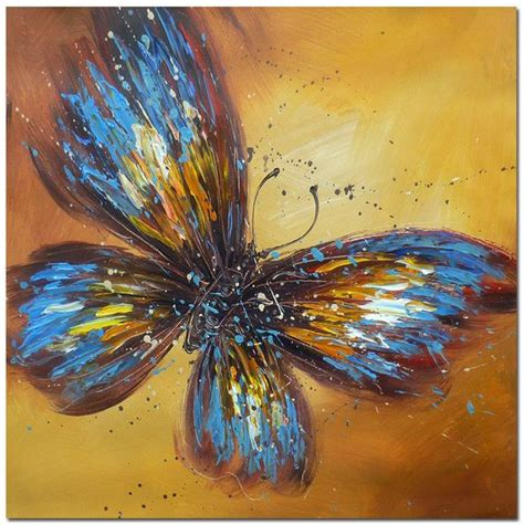 painting butterfly modern impressionism portraits abstract butterfly