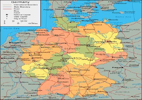 political map germany germany maps map of germany political railway germany