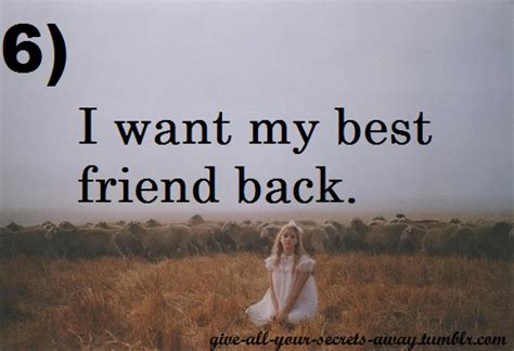 i want a friend i want my best friend back on