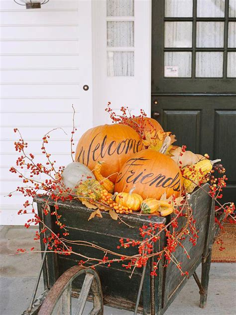Fall Decorations For The Home 37 Fall Front Entry Decorating Ideas The Home Touches