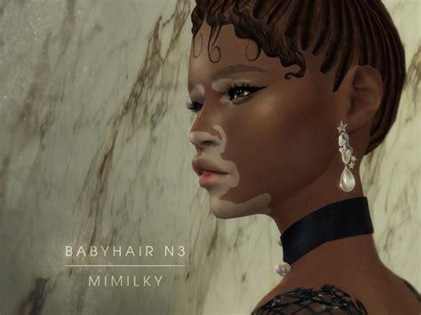 sims 4 baby hair edges daerilia s mimilky babyhair n3