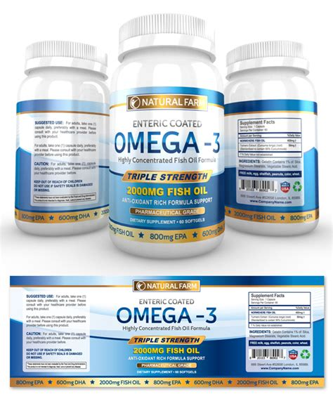 dietary supplement label template omega 3 fish supplement label template dlayouts graphic design