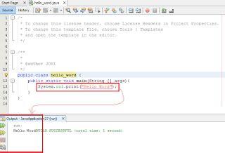 kumpulan tutorial java netbeans dasar java netbeans kode pertama bahasa pemrograman java