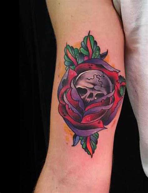 skull rose and gun tattoos 31 supreme skull tattoos gun