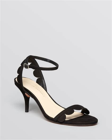 black and white sandals with heel lyst loeffler randall ankle sandals lillit scallop