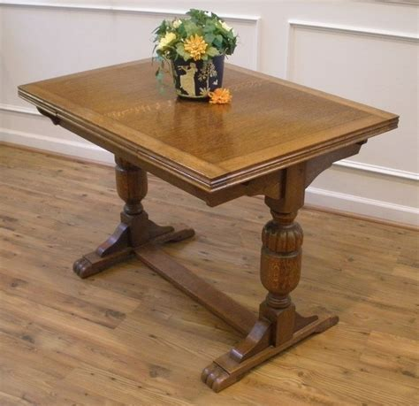 antique dining table with hidden antique english oak extending trestle dining pub table