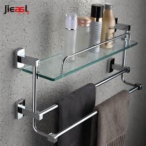 Copper towel rack single tier belt double towel bar shelf