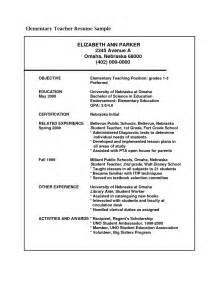 Resume Samples For Teaching Job sample resume for teaching position sample resumes