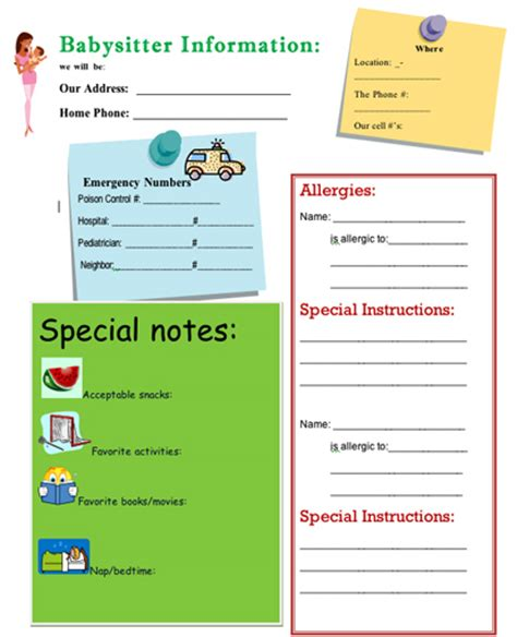 information guide template the ultimate s info sheet so you don t forget