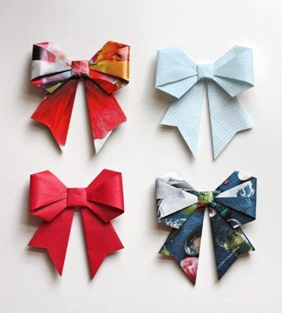 Origami Bow - cool creativity how to diy origami paper gift bow