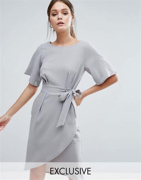 Sleeve Tie Front Dress closet closet tie front dress with kimono sleeve