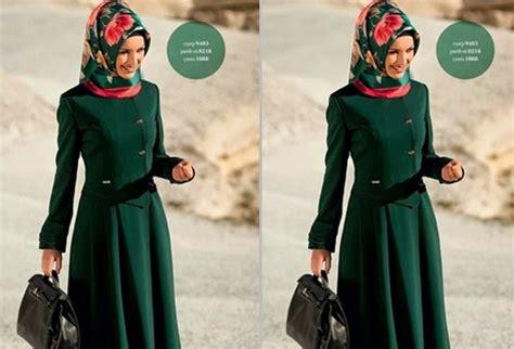 11 koleksi gambar model baju muslim kantor terbaru