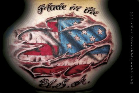 american flag under ripped skin by brent severson tattoos