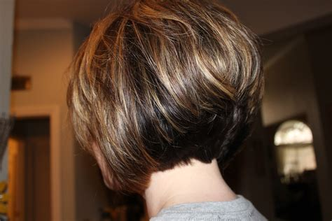 stacked back front view short stacked haircut so fun michele busch