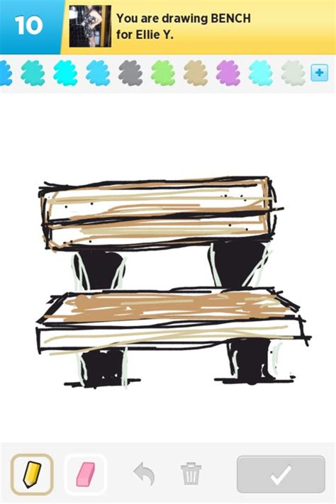 how to draw a park bench bench drawings how to draw bench in draw something the