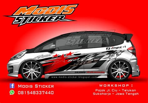 Sticker Anime Gara Decal Edisi Brio Honda modis sticker