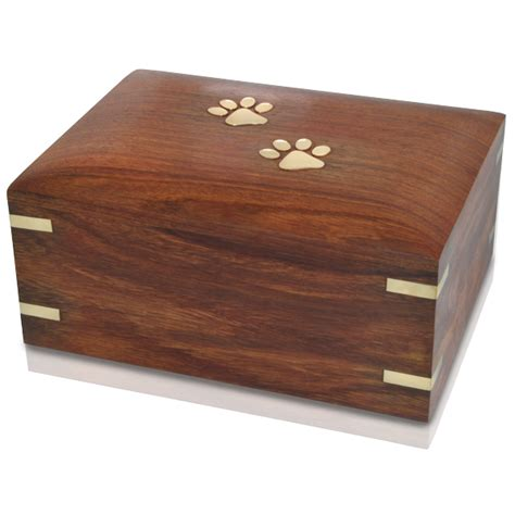 Box Pets forever paw prints wooden box pet urn