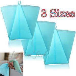 1pcs Piping Bag Silikon set icing piping nozzles pastry tips bag fondant cake sugarcraft decorating tool ebay