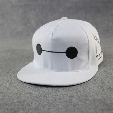 exclusive snapback baymax white adjustable canvas snapback hats big 6 baymax