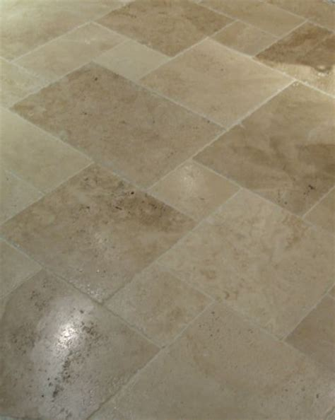 Tuscany Beige Travertine tile in a versailles pattern