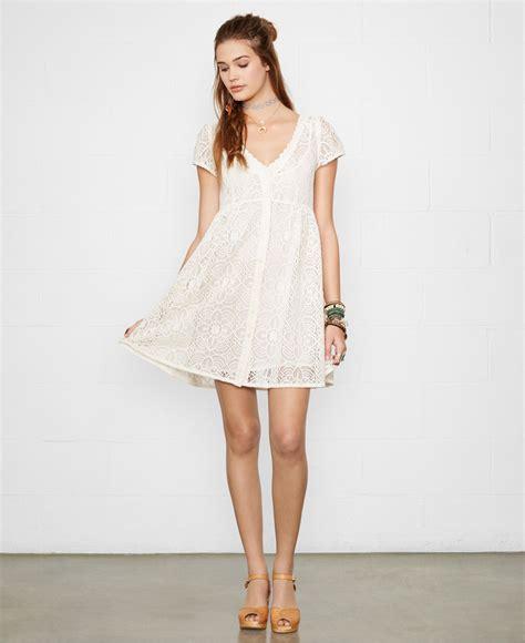 Dress Baby Doll Denim lyst denim supply ralph crochet lace babydoll