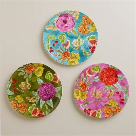 How To Use World Market Gift Card Online - garden plates set of 3 world market