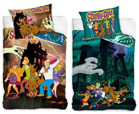 Scooby Doo Haunted House Single Cotton Duvet Cover Set Scooby Doo Bedding Sets