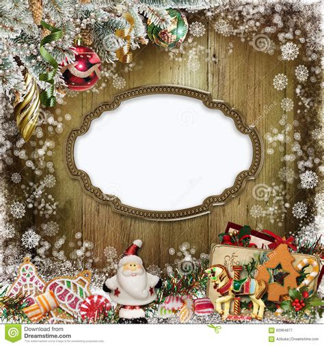 card frames templates pine boughs greeting card with frame santa claus cookies