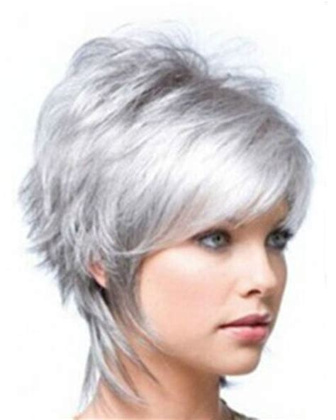 grey bob for old women short bob wigs for white women hot women heat resistant silver gray short bob cosplay