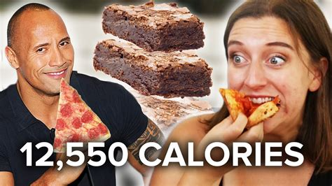 dwayne the rock johnson cheat day food we ate the rock s cheat day meals youtube