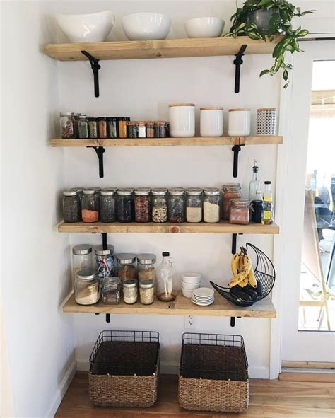 kitchen storage shelves ideas 25 best ideas about open pantry on pinterest open