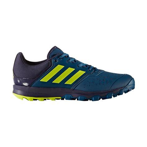 adidas hockey flexcloud blue yellow mens hockey shoes