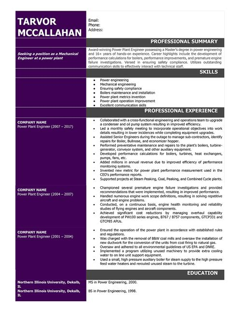 automobile resume samples of sample mechanical engineering resume