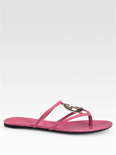 Flatshoes Gucci Import 16 gucci flat sandals in pink lyst