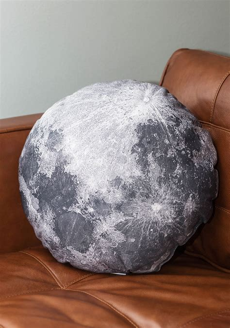 Moon Pillow - soft side of the moon pillow mod retro vintage decor