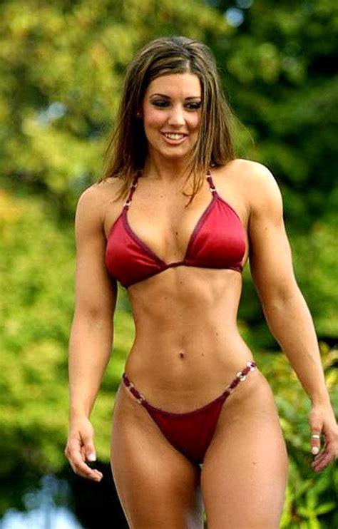 Body builder erotic lingerie photo woman