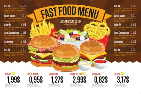 price menu template 21 free psd ai vector eps