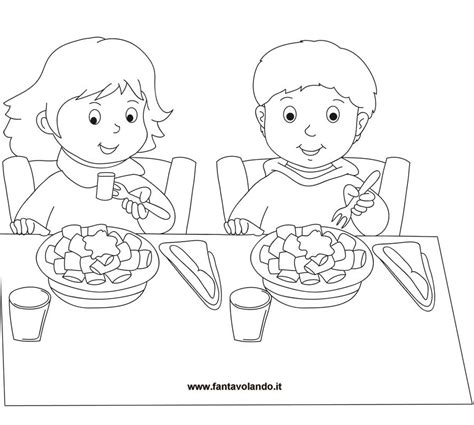 tavola disegno disegni da colorare bimbi a tavola