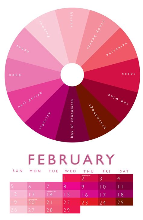 pink color wheel february color wheel 2012 calendar pinterest