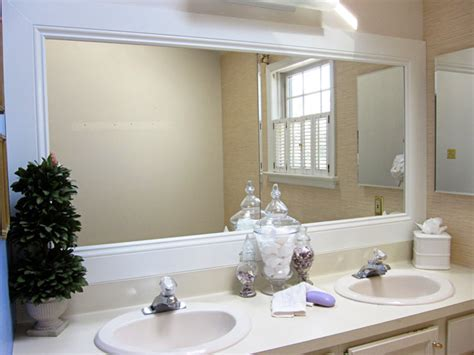 framing a bathroom mirror how to frame a bathroom mirror