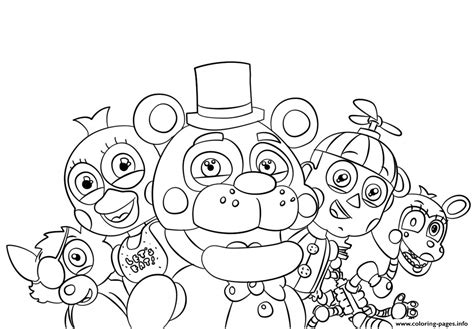 Fnaf 2 Coloring Pages by Fnaf Printable Coloring Pages To Print Free Coloring Sheets